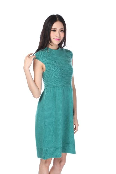 Knitted dress MONTPARNASSE Emerald - EmKha