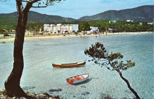 Preciosa foto de la playa de Palama Nova, Mallorca en 1965