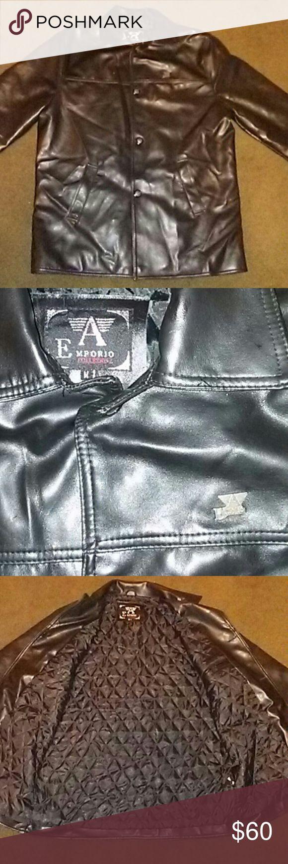 Emporio Armani leather jacket Medium Emporio Armani leather jacket in excellent Emporio Armani Jackets & Coats