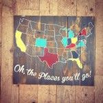 Map United States Pallet Sign www.TheBarnInNorthville.com