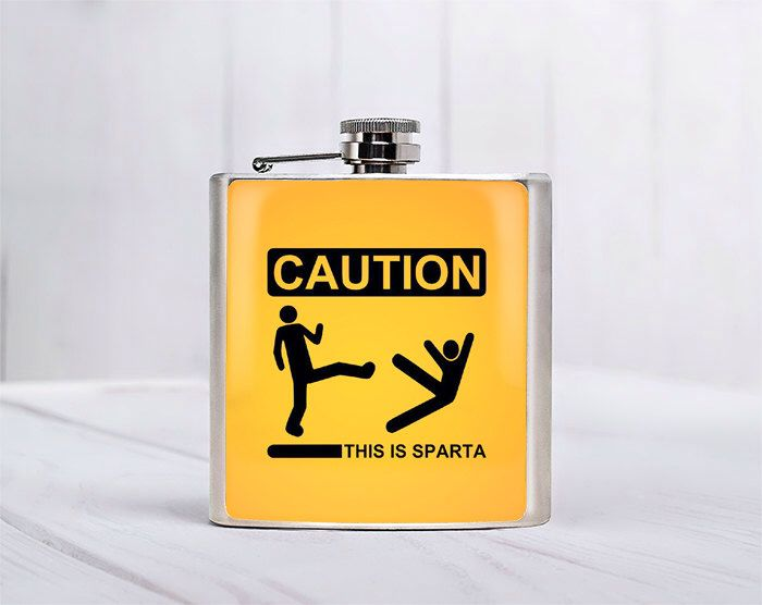This is sparta Flask Funny gifts Funny flask 21 Birthday Gift ideas for him Gift for boyfriend Gift for girlfriend Gift for him Liquor Flask by Fantasticum on Etsy https://www.etsy.com/listing/162976535/this-is-sparta-flask-funny-gifts-funny