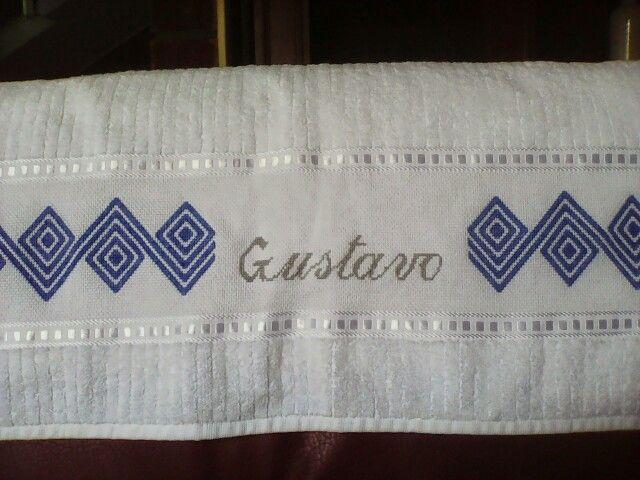 1000 images about toallas en punto de cruz on pinterest patrones navidad and towels - Cenefas punto de cruz para toallas de bano ...
