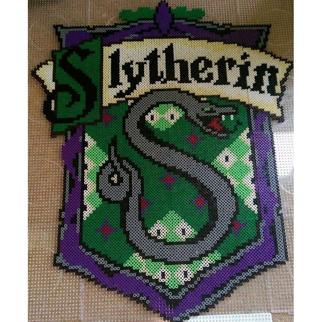 Slytherin - Harry Potter perler beads by Anca
