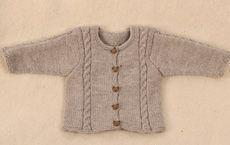 Babytrøje med bittesmå snoninger - - Familie Journal