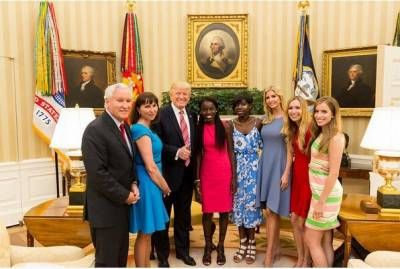 President Donald Trump And Daughter Ivanka Host Two Escaped Chibok Girls At The White House (Photo) -  Click link to view & comment:  http://www.naijavideonet.com/president-donald-trump-and-daughter-ivanka-host-two-escaped-chibok-girls-at-the-white-house-photo/