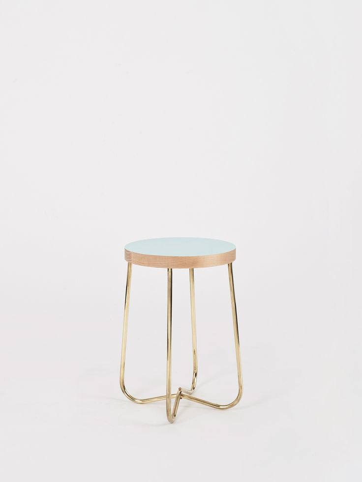 Cross Brass Stool for Kate Sylvester - Douglas + Bec