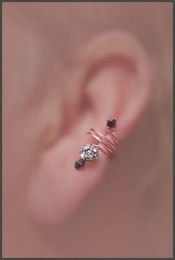 Ear cuff pair/Made for Marie Osmond/ rhinestone by thelazyleopard, $20.00