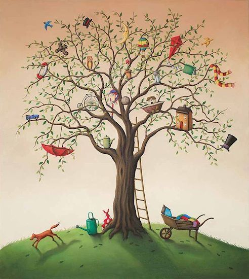Click  For Framed Example: Paul Horton - The Tree Of Life (Remarqued)