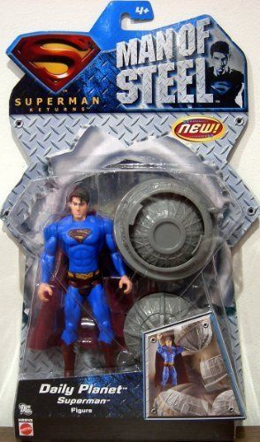Daily Planet Superman Action Figure - 2007 Superman Returns Man of Steel Series @ niftywarehouse.com