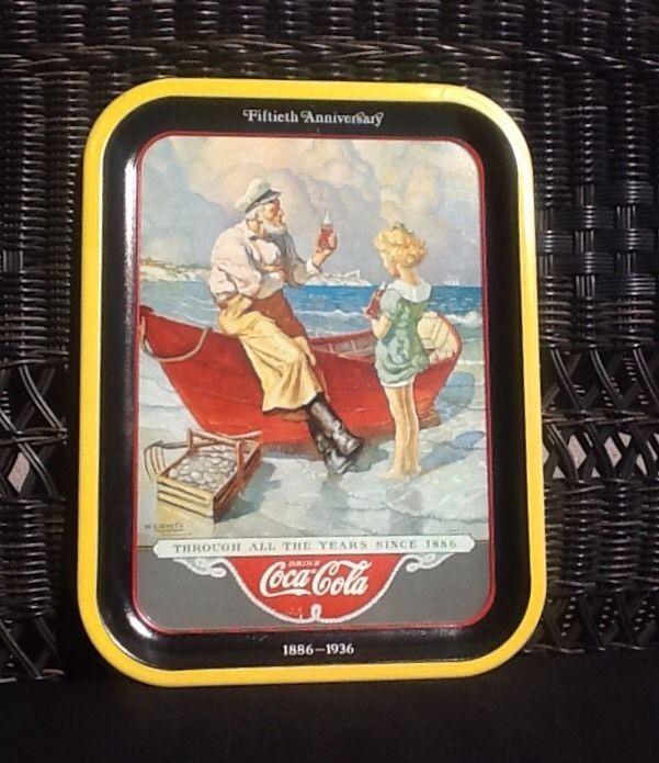 "A BLAST FROM THE PAST! CIRCA 1980'S ""SEA CAPTIAN"" COCA COLA PARTY TRAY #CocaCola"