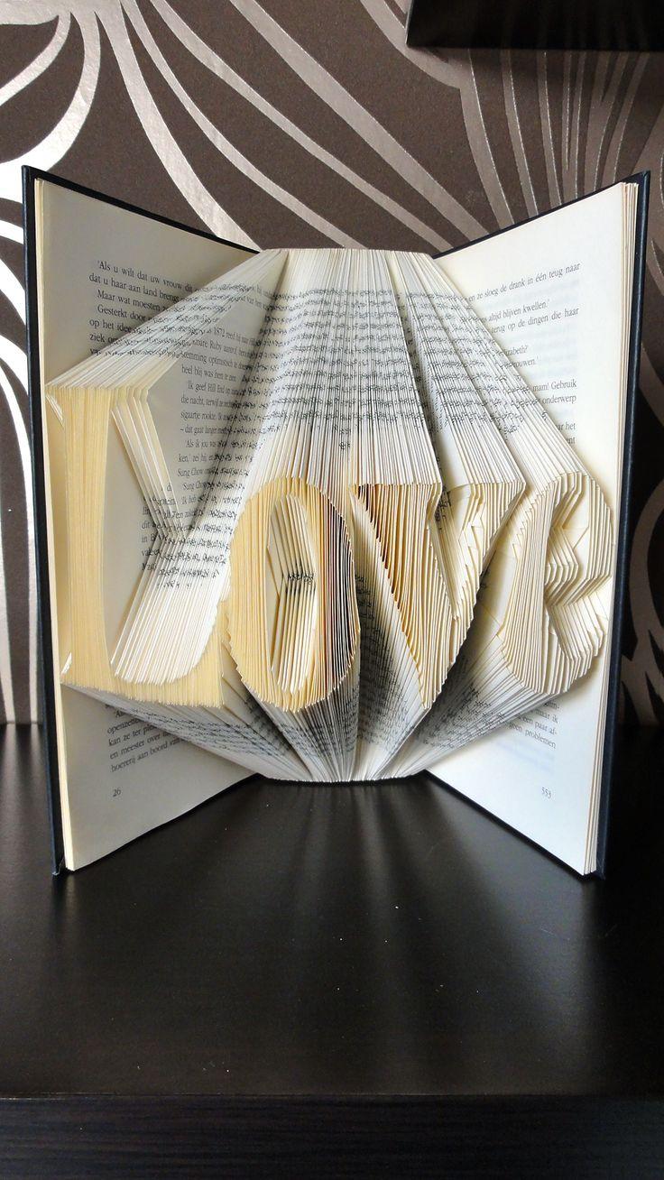 Creatief met boeken, leuk als decoratie