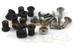 10x Belly Pan Fairing Well Nuts & Stainless Steel Bolts m5