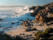 Wild, dramatic ocean after the stormy weather - De Kelders, South Africa