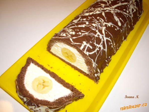 Tvarohový tunel s banánem