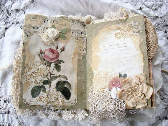 Book Inside Cover Patterned Paper : De bästa junk journals mini albums bilderna på