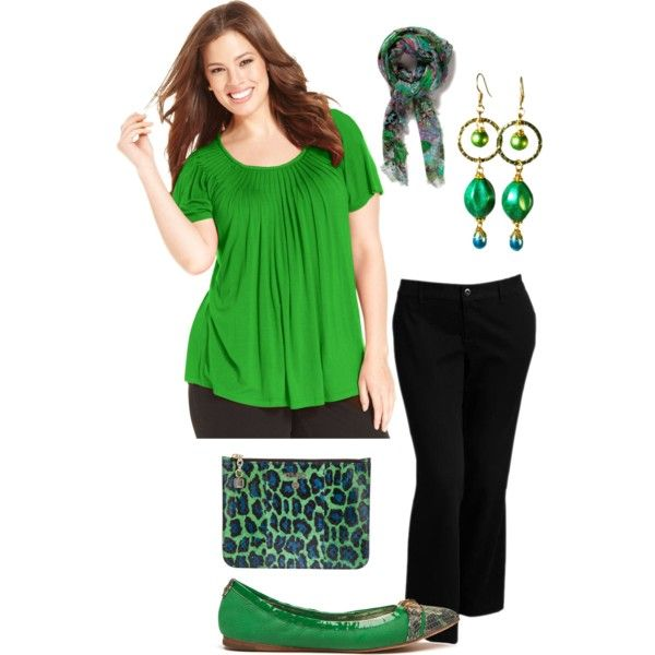 """""""Plus size Spring green"""" by elise1114 on Polyvore"""