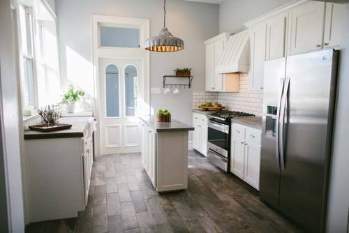 Carried Away Season 1, Episode 13 The 5th St. Story (Ranked #1 episode by blogger). See also season 1 episode 5: 15th street story - This renovation was unique because our carpenter Clint and his wife Kelly were our clients! Clint makes Magnolia Farms furniture and wanted to purchase and renovate a new home close to his carpentry shop, Harp Design Co...maybe episode 6 on Netflix)