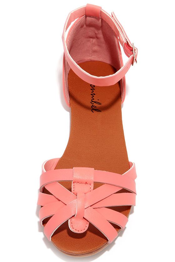 Teamwork Coral Flat Ankle Strap Sandals at Lulus.com!