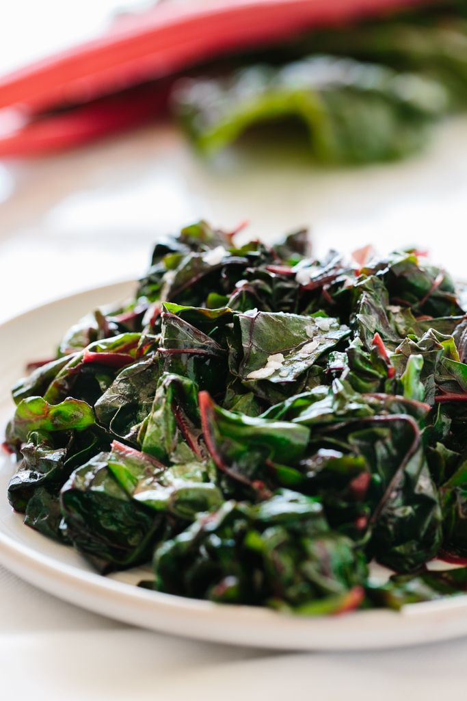 garlic sauteed swiss chard... Is even better cooked with bacon!