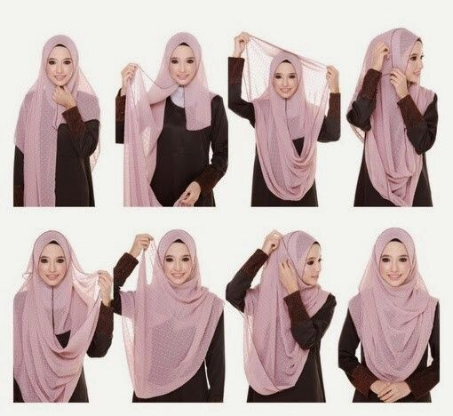 Beautiful chest coverage hijab tutorial.