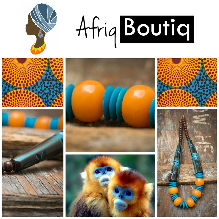 Who doesn't love a #monkey #necklace?  Check out our #africanamber #beaded #statement #necklace at our shop: http://www.etsy.com/shop/afriqboutiq