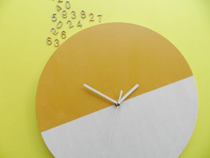 Yellow Pillows Deco: Reloj de pared DIY - DIY wall clock