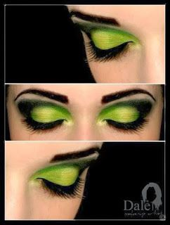 this would be pretty witch makeup. chic twist on a classic