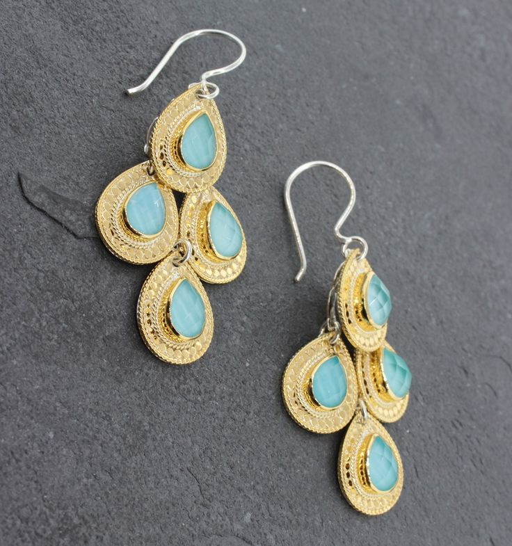 Anna Beck Gili Chandelier Earrings - Sterling Silver and 14K Gold ...