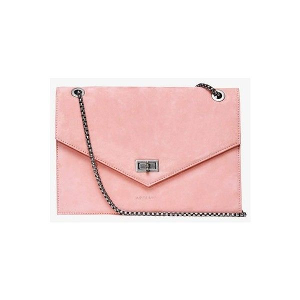 Anine Bing City Kensington - Pink (€750) ❤ liked on Polyvore featuring bags, handbags, shoulder bags, pink, pink shoulder bag, red handbags, pink leather handbags, leather shoulder bag and pink purse