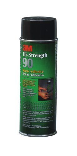 3M 90-24 Spray Adhesive 17.6-Ounce by 3M. $12.99. From the Manufacturer                3M(TM) Hi-Strength 90 Spray Adhesive quickly bonds laminates, plastic pieces, polyethylene and polypropylene to various surfaces including themselves.                                    Product Description                High Strength, Fast Contact-Type Adhesive. Fast Contact Strength Buildup for Many Decorative Laminates. Only Needs 1 Minute of Drying Time.. Save 41%!