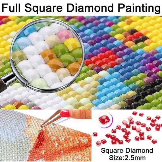 5D Full Round Drill Diamond Painting DIY Christmas Embroidery Mosaic Craft Kit