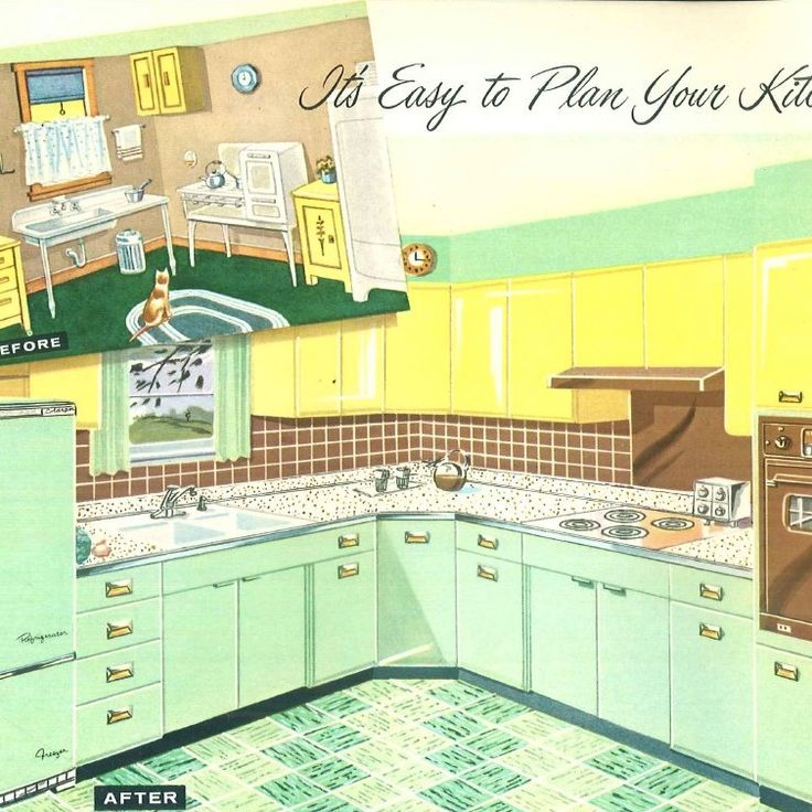 17 Best Images About 1950s Kitchen On Pinterest