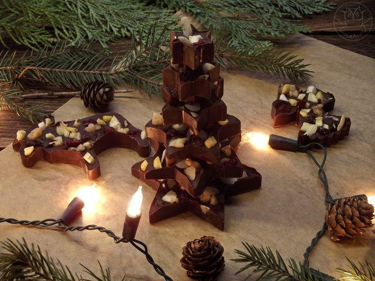 Homemade christmas chocolate