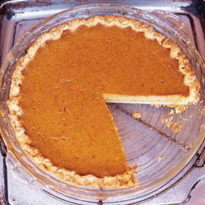 """Libby's Pumpkin Pie by Saveur. The filling for this pie is adapted from the """"Libby's Famous Pumpkin Pie"""" recipe printed on the back label of Libby's pumpkin cans."""