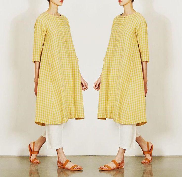 Eka# Ogan # checks fashion # day look # Indian fashion