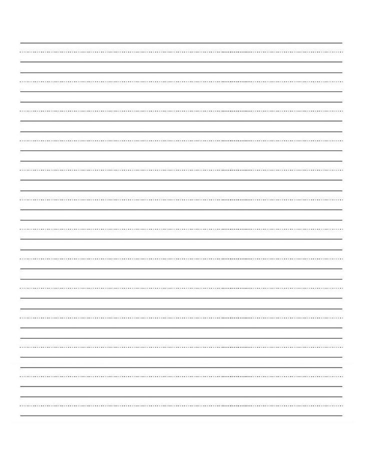 blank handwriting sheet Kids Pinterest