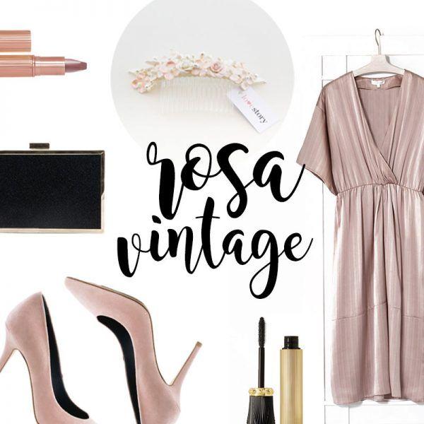 Looks de boda para invitadas: Rosa millenial con vestido de Intropia, Zapatos de Love Story novias, Tocado Love Story Novias, Clutch Lodi