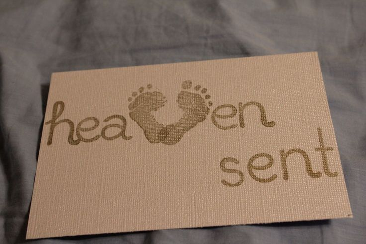 """Heaven Sent"" Baby Shower Invitations on Mashed Potatoes and Crafts"