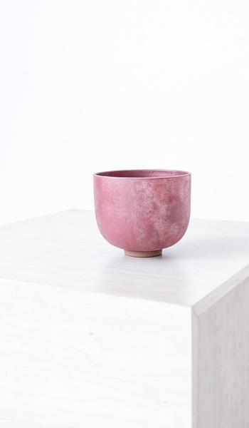 Kati Von Lehman Textured Red Bowl
