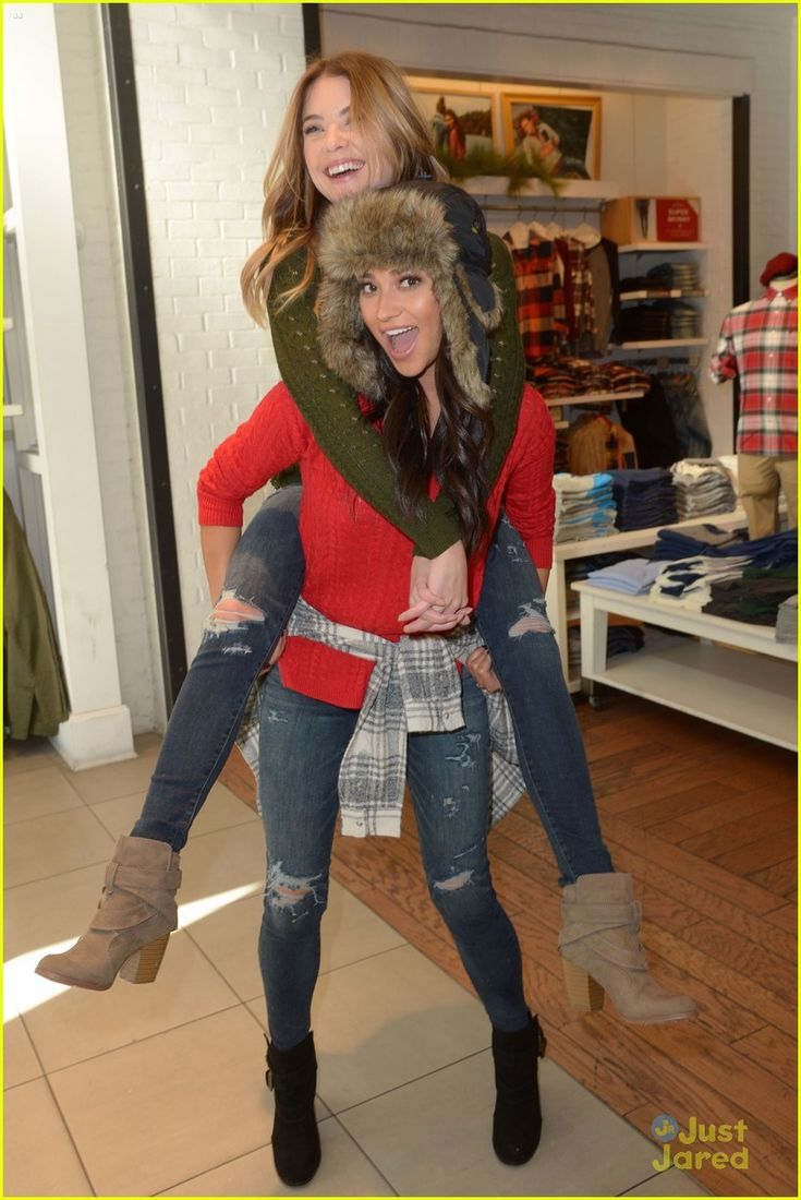 Shay Mitchell & Ashley Benson Have Holiday Shopping Spree At American Eagle Outfitters: Photo #903779. Shay Mitchell and Ashley Benson get close together for a fun selfie during their holiday shopping excursion at American Eagle Outfitters in Hollywood on Tuesday…
