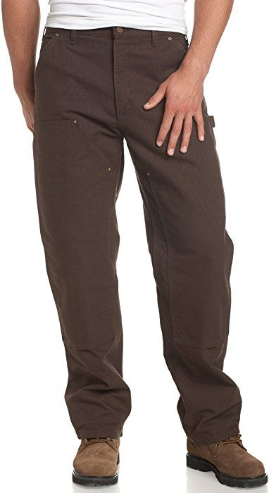 f547018b Amazon.com: Carhartt Men's Double Front Work Dungaree Washed Duck, Dark  Brown, 34 x 32: Casual Pants: Clothing