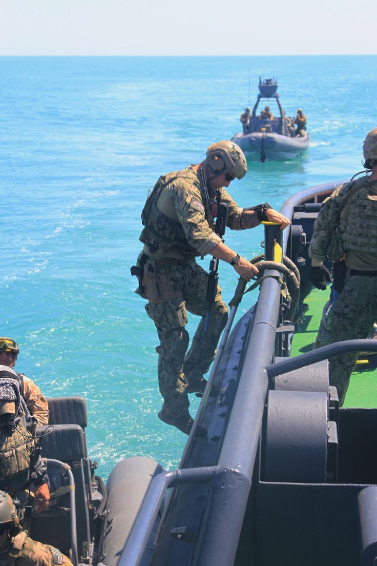 Ukrainian Special operation forces and U.S. Naval special warfare members conducting a joint visit, board, search and seizure (VBSS) training exercise in the Black Sea, July 19, 2017 during exercise Sea Breeze.