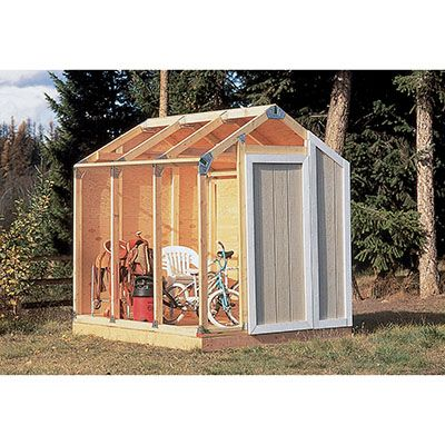 Fast Framer Universal Storage Shed Framing Kit  39.99. You can frame a basic shed with just 2x4s. I think this may be a good option for the beginning builder like, oh, say, me.