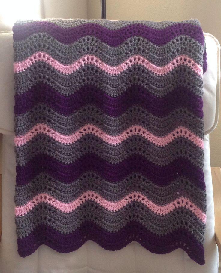 Crochet wave blanket Baby Blankets Pinterest