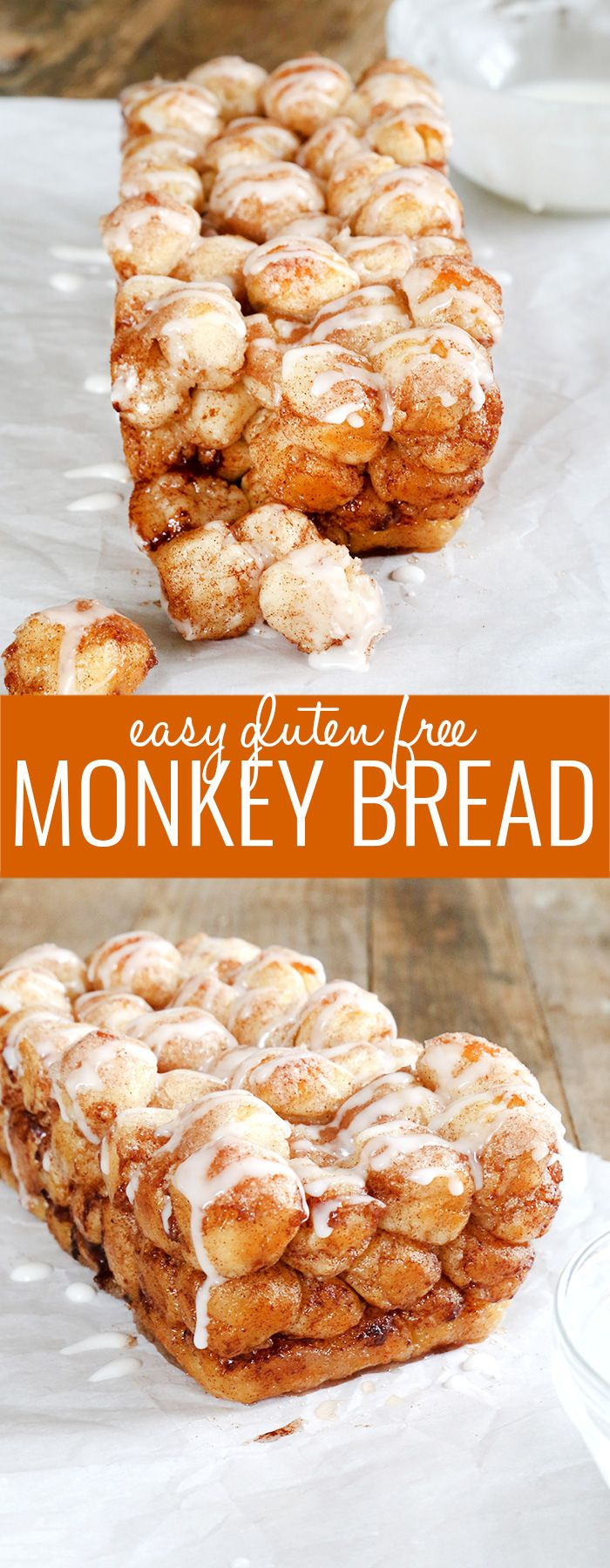 Get this tested recipe for a super easy version of gluten free monkey bread. Made from gluten free pizza dough!
