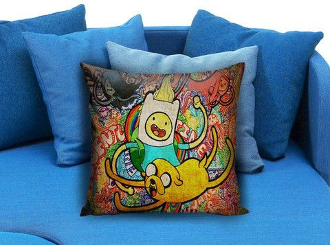 Adventure Time Jack And Finn painting art Pillow case  #pillow #case #pillowcase #custompillow #custom