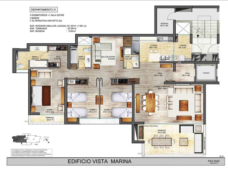 .::Edificio Vista Marina::. - Departamento 21