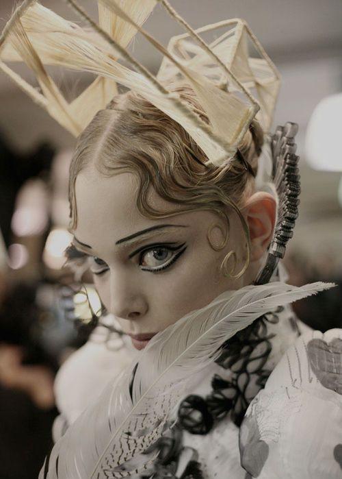 Tanya Dziahileva at Jean Paul Gaultier Haute Couture Autumn/Winter 2009. by leann