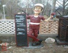 Statue of gas station