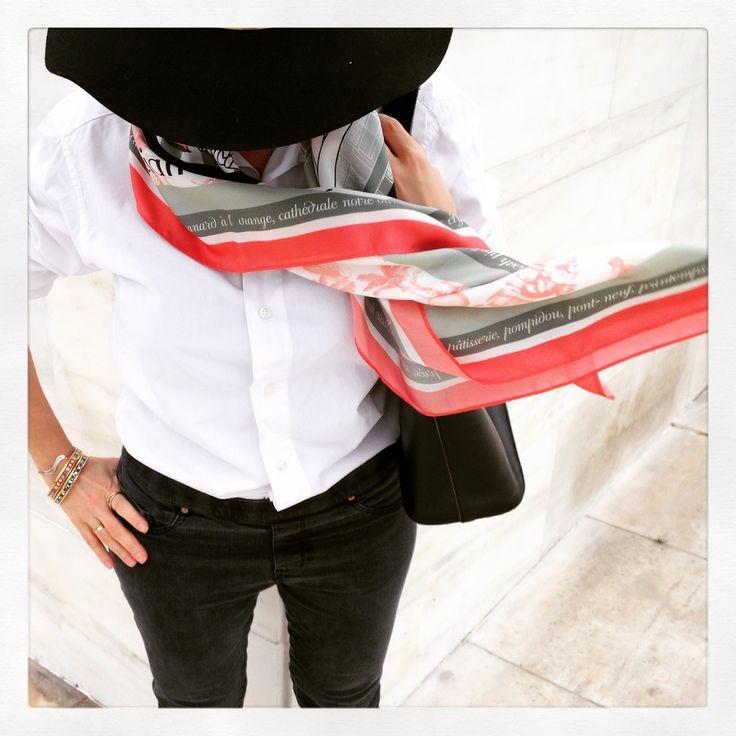 """Grecian in Paris"" silk scarf by Grecian Chic!"